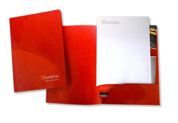 Candelas, Corporate Folder/Brochure Design, Kiltimagh, Co. Mayo, Ireland.