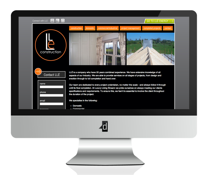 Luxury Living Eireann Website Design and Development Balla, Kiltimagh, Co. Mayo, Ireland.