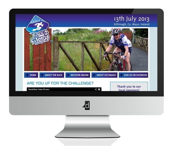 Race 2 Glory Website Design and Development, Balla, Kiltimagh, Co. Mayo, Ireland.