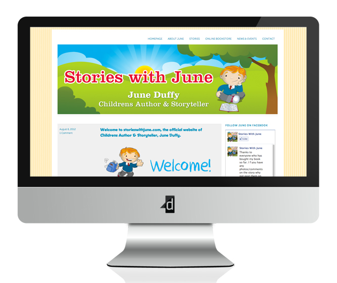 Stories with June, Website Design & Web Development, Content Managed Website, Ballyhaunis, Co. Mayo, Ireland.