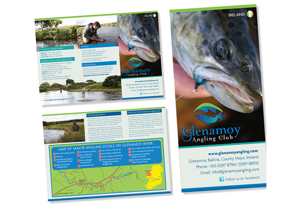 Glenamoy Angling Club, Brochure Design & Leaflet design, Bangor-Erris, Belmullet, Co. Mayo, Ireland.