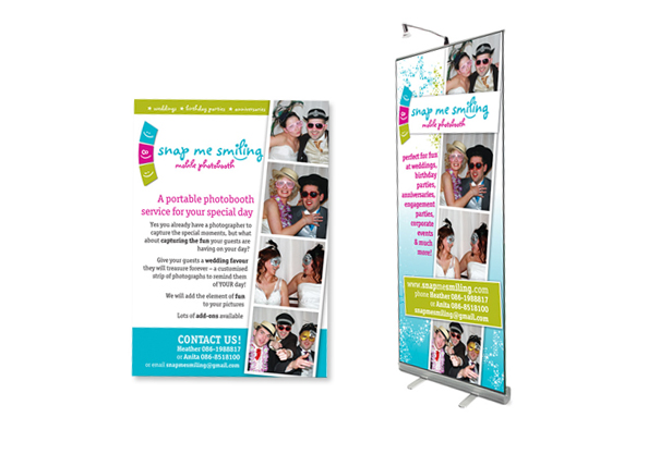 Snap Me Smiling, A5 Leaflet Design and Pull-Up Banner Design, Foxford, Co. Mayo, Ireland.