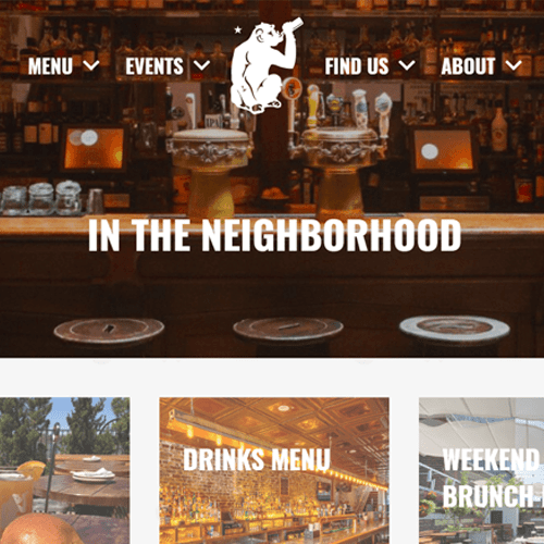 Mobile Friendly Website Design for Brass Monkey Bar, Meatpacking District, New York, USA