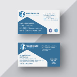 GC-Warehouse - Business Card Design - Designwest