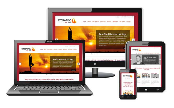 Dynamic-Hot-Yoga-Website-Design-Claremorris-Ireland