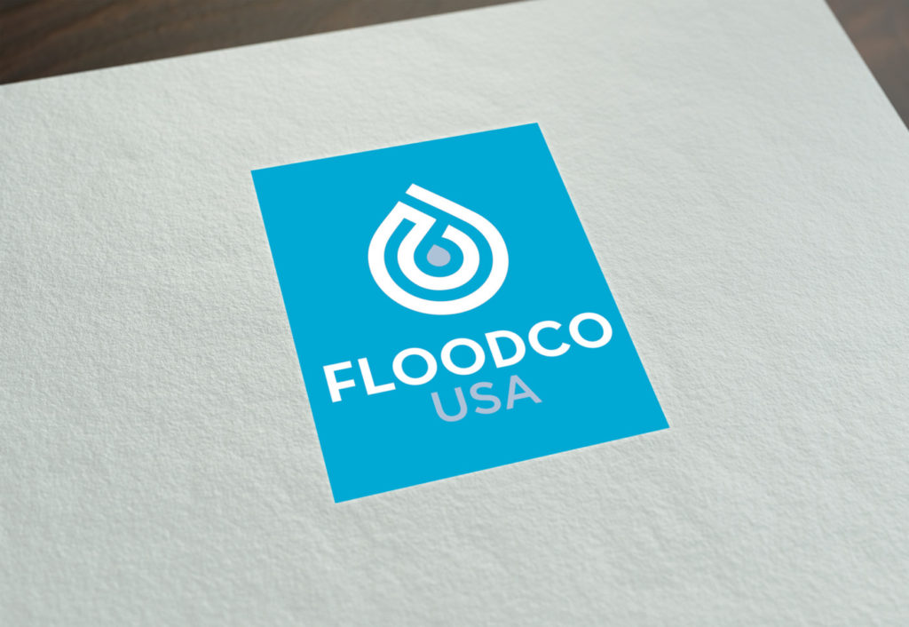 Professional Stationary Design New York, Business card Design New York, Logo Design new york made by Designwest for Flood Co. USA