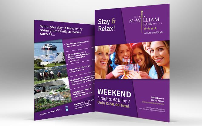 mcwilliam park hotel-leaflet design-print-design-claremorris-mayo