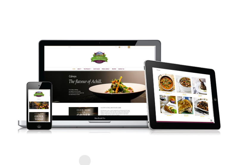 calveys of achill, calveys mountain lamb, achill, mayo, ireland, website design, designwest
