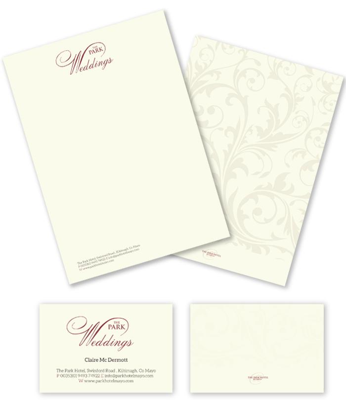 the_park+hotel_letterhead_buisness_card_design_mayo_ireland_designwest
