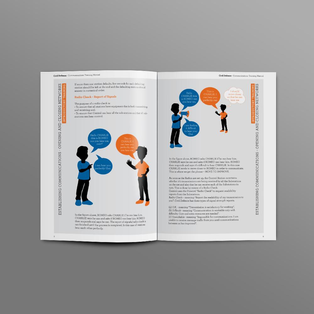 Brochure Design – Civil Defence, Benamore, Roscrea Co. Tipperary