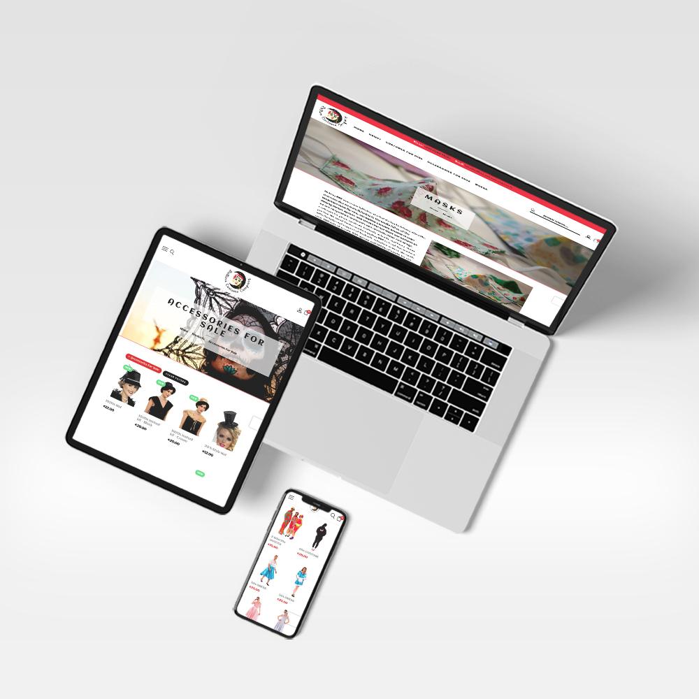 Ballina Costume Company Website Design