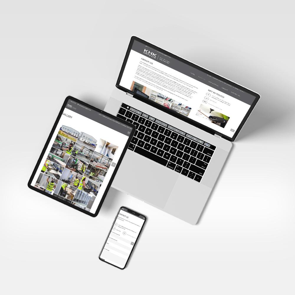 KHK Units - Website Design on various units
