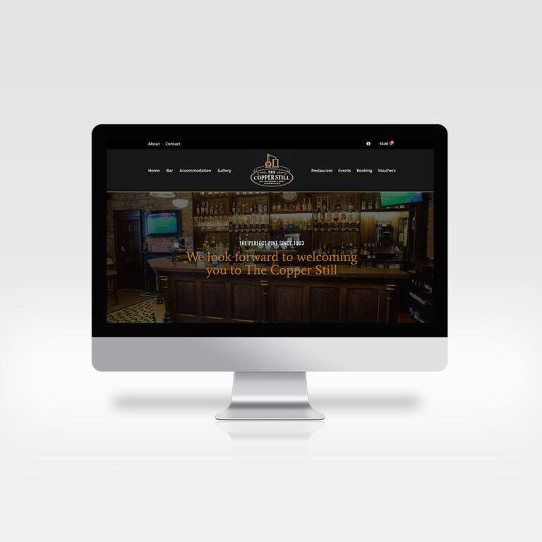 Website Design - The Copper Still Bar, Dromod, Co Leitrim