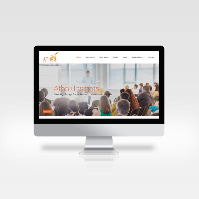 Website Design - Athrú Insights, Dublin