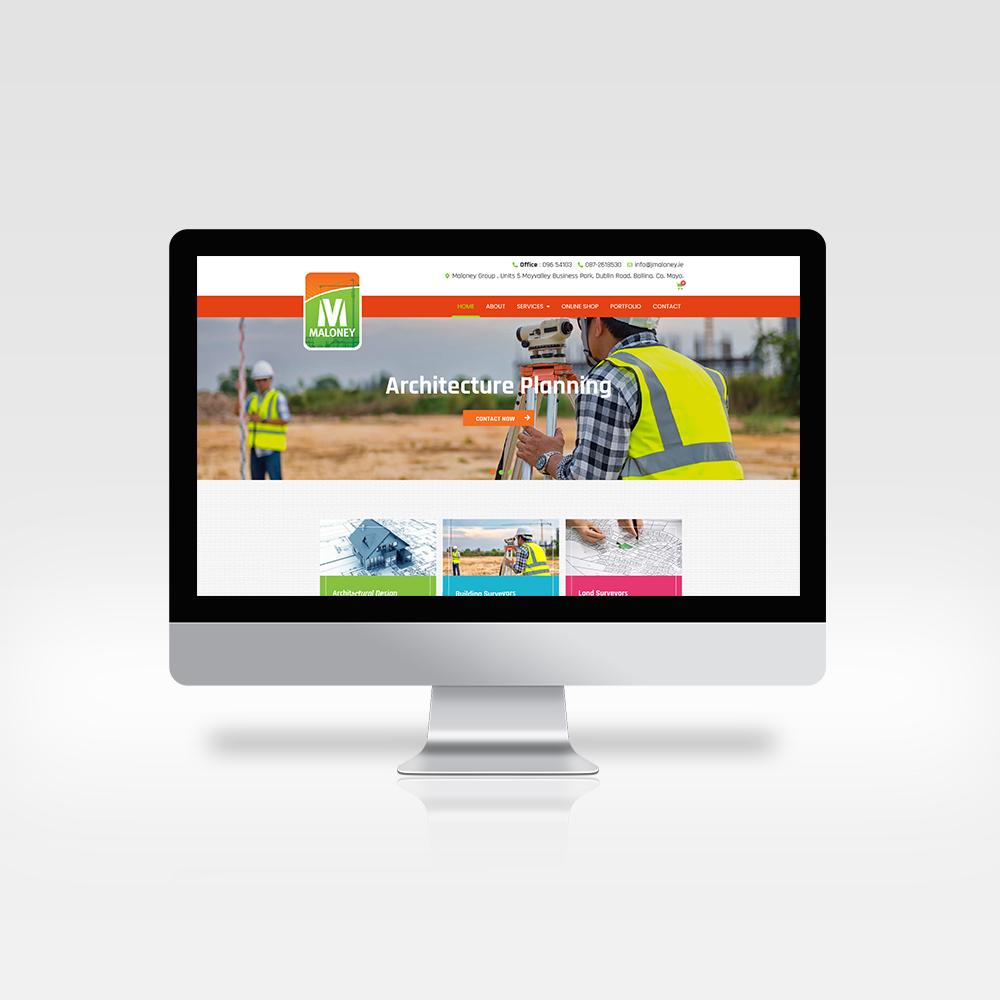 Maloney Group - Architecture Planning - Designwest - Website Design