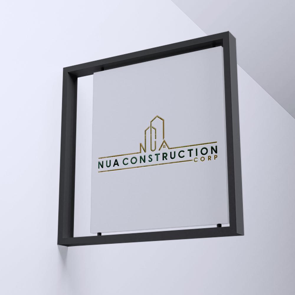 Logo Design - Nua Construction Corp, 750 Saw Mill River Rd., New York