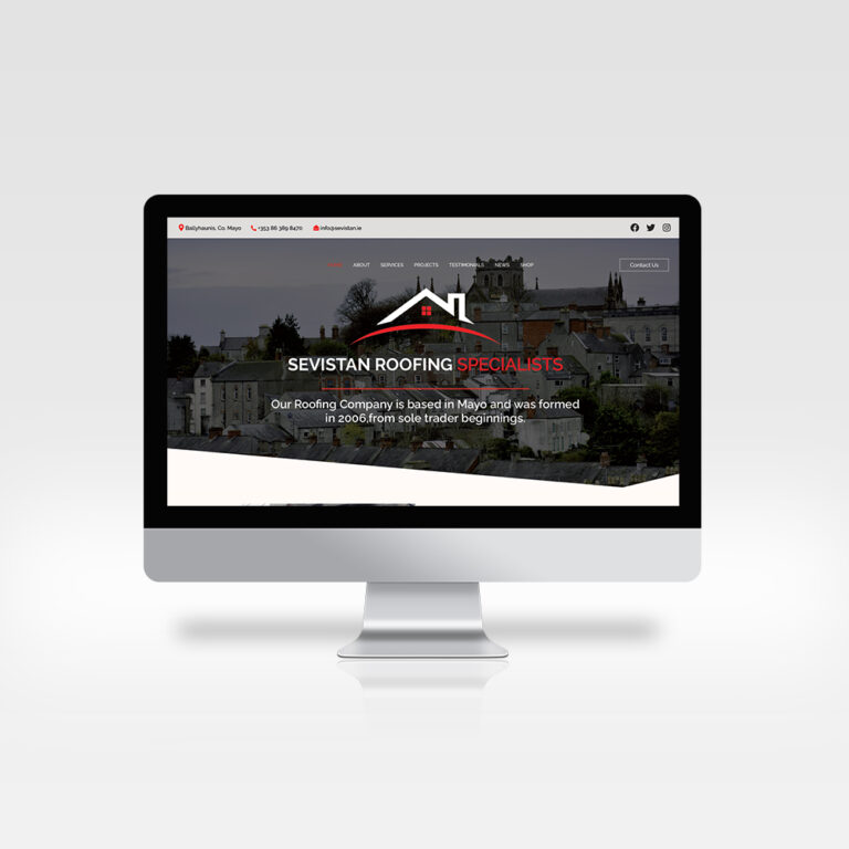 Great Web Design - Sevistan Roofing Contractor, Co. Mayo, 2021
