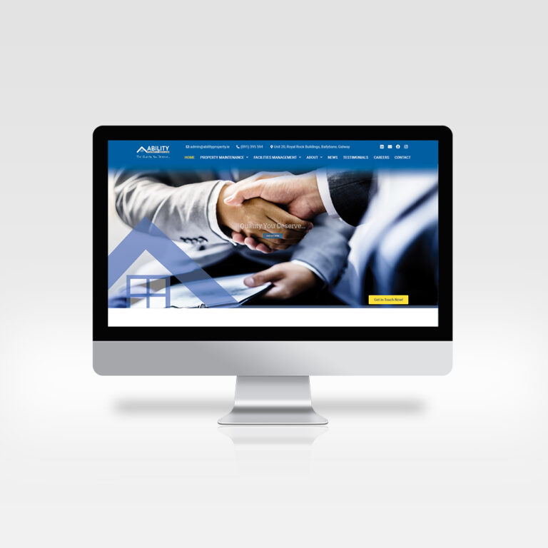 Responsive Website - Ability Property Services - Great Modern Web Design 2021