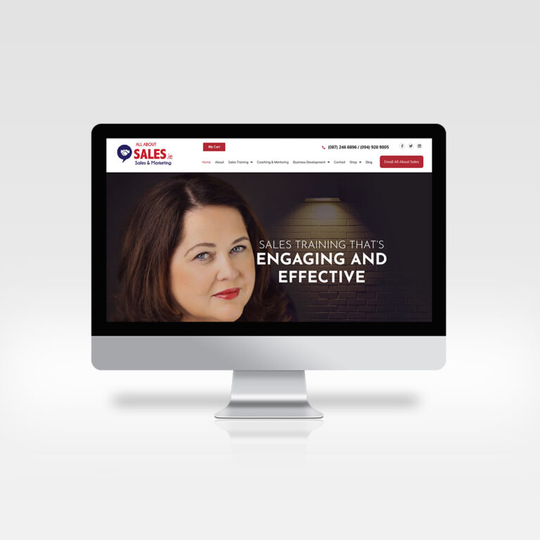 Responsive Web Design - All About Sales - Great Sales and Marketing Website Design, 2020
