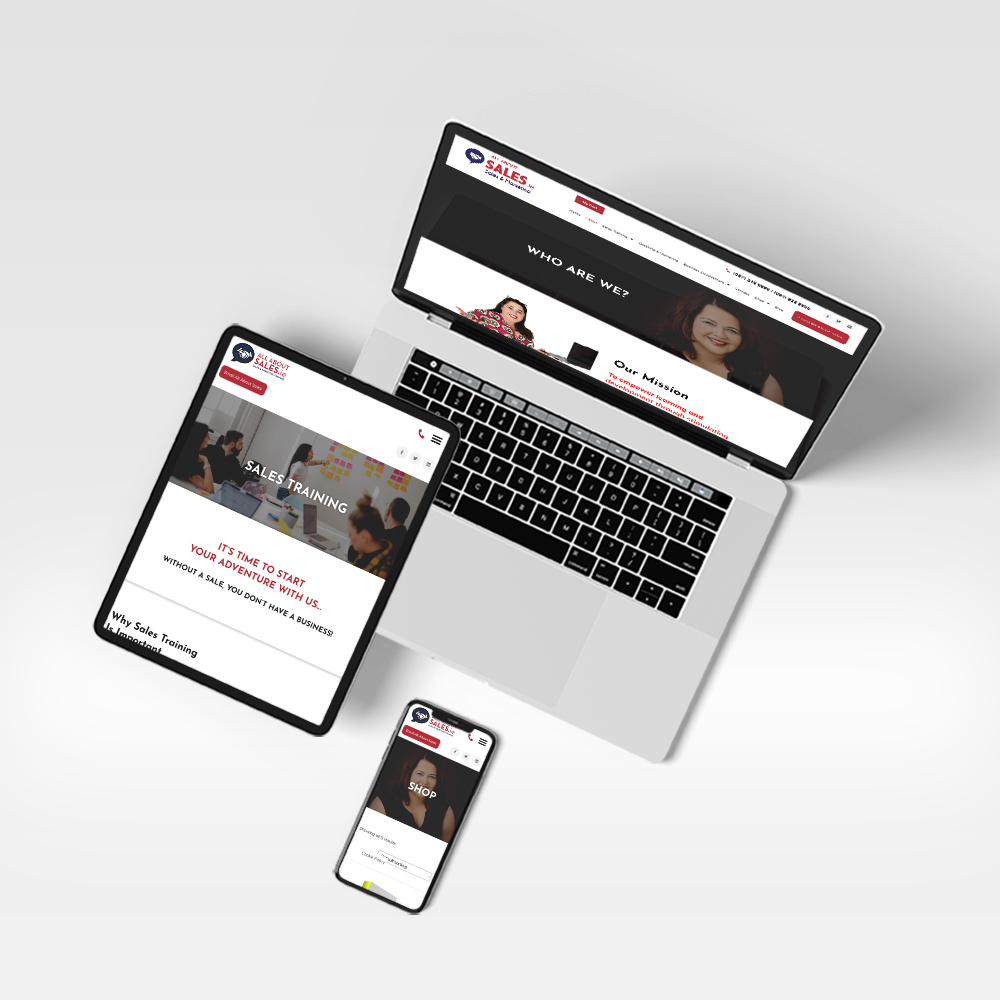 responsive web design - All About Sales - Designwest
