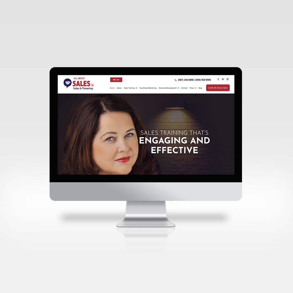 responsive web design - All About Sales - Designwest
