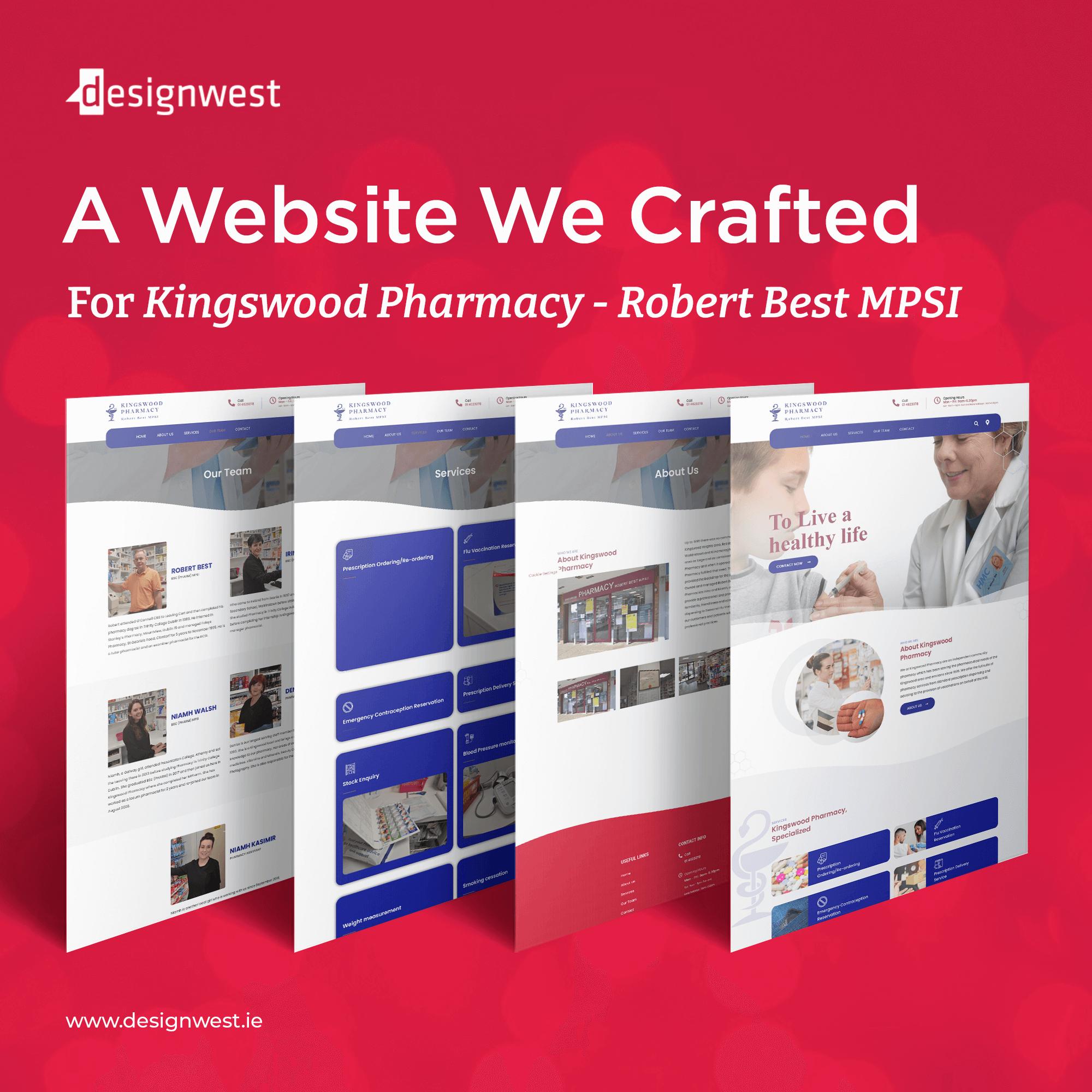 Great Web Design and Development - Kingswood Pharmacy, Dublin, 2021