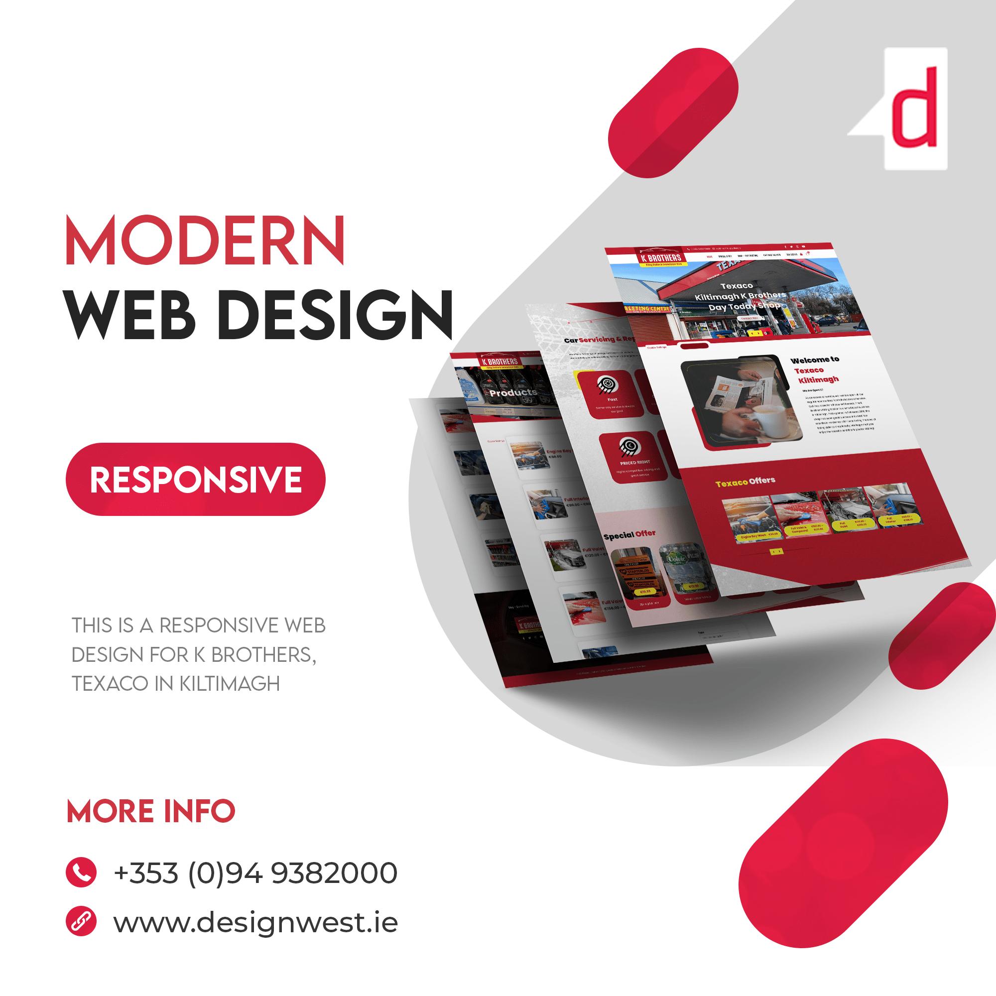 Web Designers Ireland for Texaco, Kiltimagh   Just Great Design 2021