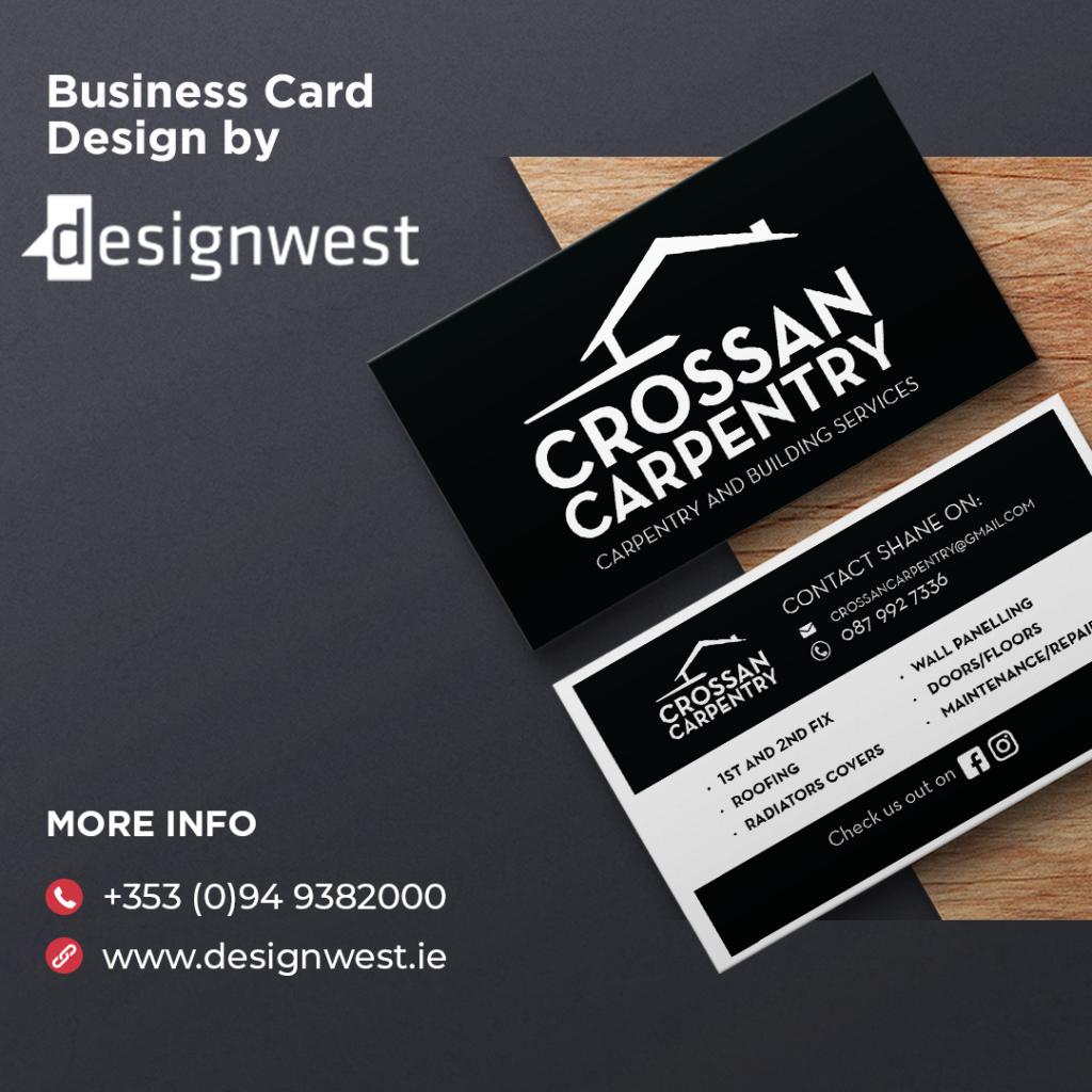 Business Card Design - Crossan Carpentry