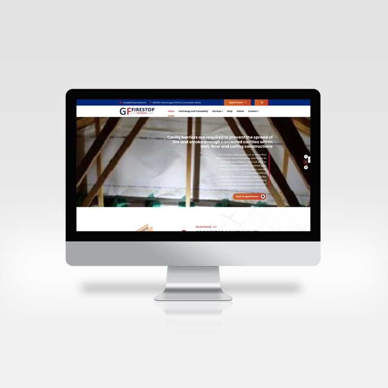 website layout for GF Firestop
