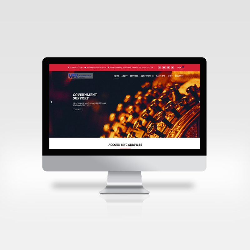 VPR Website Design