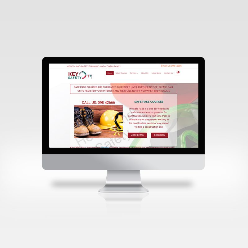 Web Design - Key Safety - Website Design Ireland